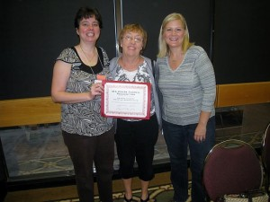 image of OCRA board members receiving IRA's Honor Council Award