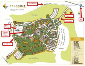 image of a map of Concordia University