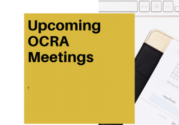 2020-2021 OCRA Meetings