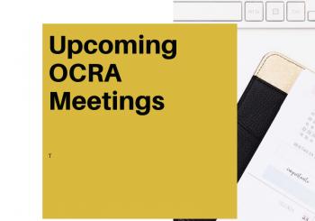 2020-2021 OCRA Meetings